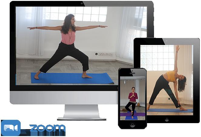 שיעור יוגה ב-ZOOM